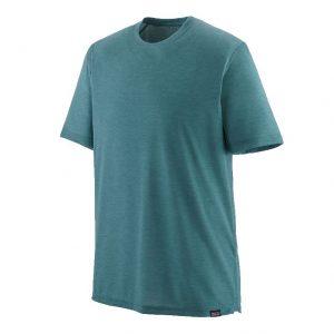 Patagonia Men's Cap Cool Trail SS Shirt Abalone Blue