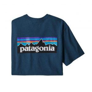 Patagonia Men's P6 Logo Responsibili-Tee Crater Blue