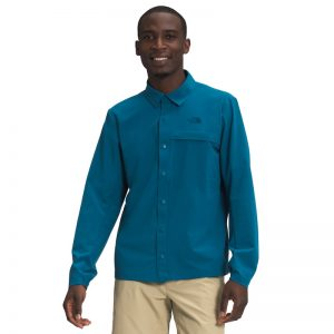 The North Face Men's LS First Trail UPF Blue