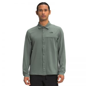 The North Face Men's LS First Trail UPF Green