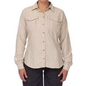Mont Women's Lifestyle Vented L/S Shirt Stone